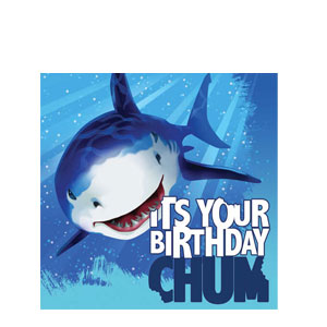 Shark Splash Happy Birthday Napkins- 16ct