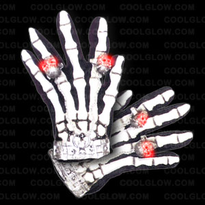 LED Skull and Skeleton Gloves