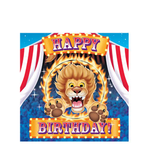 Big Top Birthday Napkins