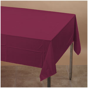 Maroon Plastic Tablecover