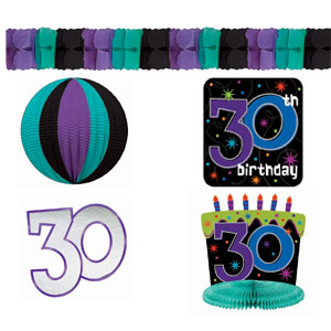 The Party Continues-30 Decorating Kit- 8pc