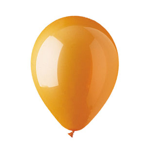 11 Inch Orange Latex Balloons- 100ct