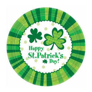 St. Pat's Cheer Dinner Plates-9 inches