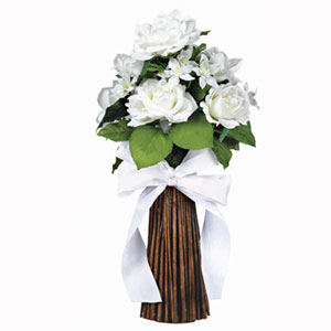 White Floral Bouquet- 18 Inch