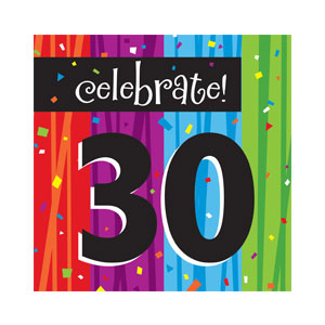 Celebrate 30 Luncheon Napkin - 16ct