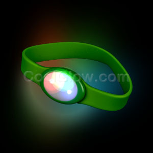 LED Silicon Wristband - Green