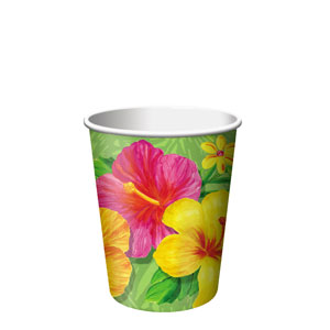 Tropical 9 oz. Cups- 8ct