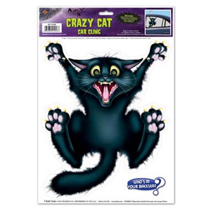 Black Cat Car Window Cling