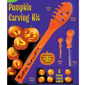 Super Scoop Pumpkin Carving Kit- 9pc