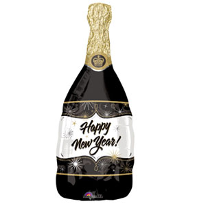 New Year's Champagne Balloon 18 inches