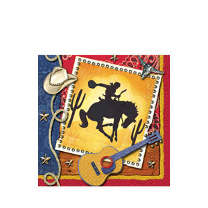 Wild West Beverage Napkins - 16ct