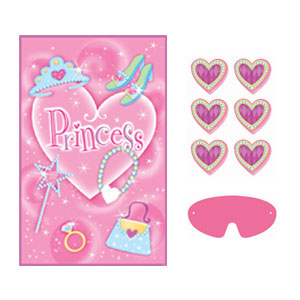 Princess Heart Pin Game- 4pc