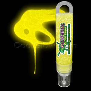 Glominex Glitter Glow Paint 1 oz Tube - Yellow