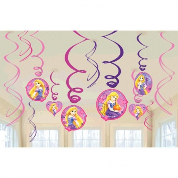 Disney Rapunzel Swirls- 12 CT