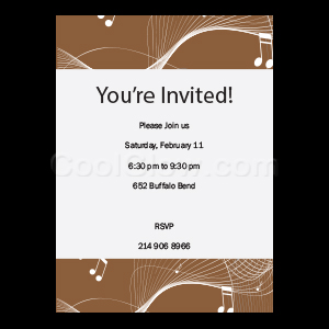 Disco Music - Custom Invitations