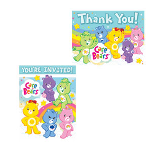 Care Bears Inivtaitons and Thank You Cards Combo- 16ct