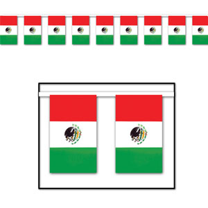 Outdoor Mexican Flag Banner- 60ft
