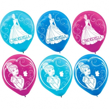 Disney Cinderella Latex Balloons Asst Colors