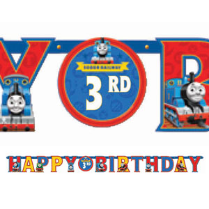 Thomas The Tank Add-An-Age Letter Banner- 10ft