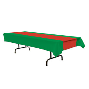 Red and Green Tablecover - 54in x 108in