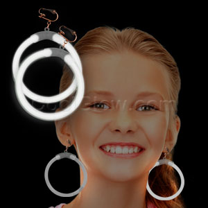 Glow Earrings - White