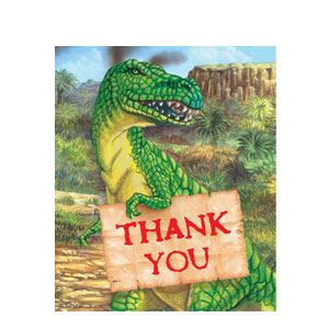 Diggin' For Dinos Thank You Cards- 8ct