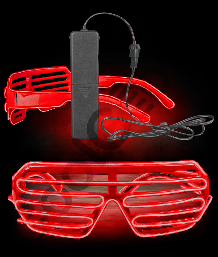 EL Shutter Slotted Shades- Red