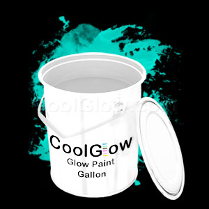 Glominex Glow Paint Invisible Day Gallon Aqua