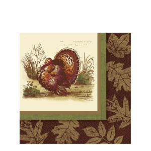 Thanksgiving Sophistication Plastic Table Cover- 102 Inch