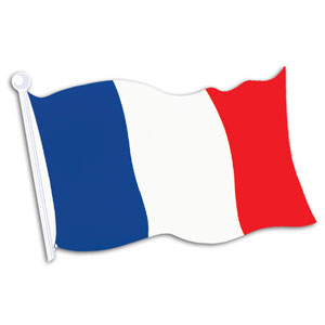 French Flag Cutout- 18in