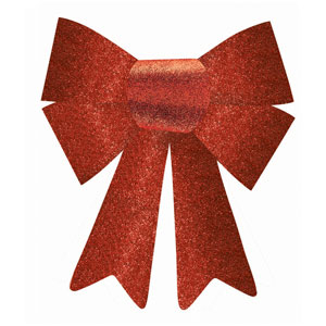 Small Red Glitter Bow- 12 Inch