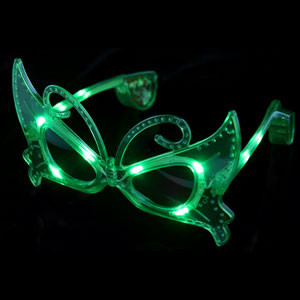 LED Butterfly Sunglasses - Green