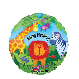 Wild Kingdom Birthday Balloon- 18in
