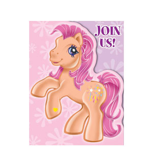 My Little Pony Invitations- 8ct