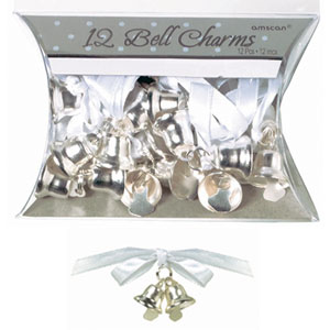 Double Bell Charms - Silver 12ct