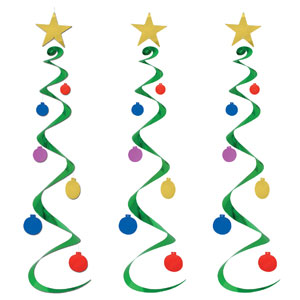 Christmas Tree Whirls - 3ct