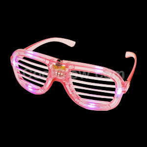 LED Shutter Slotted Shades - Pink