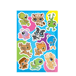 Littlest Pet Shop Stickers- 2ct