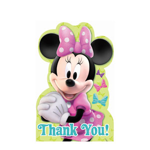 Disney Minnie Mouse Thank You Cards- 8ct