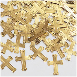 Crosses Confetti - Gold
