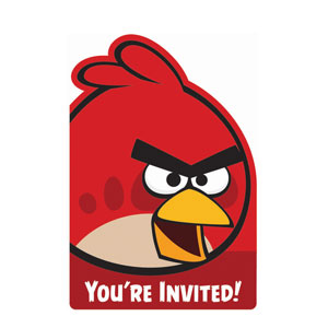 Angry Birds Invitations- 8ct