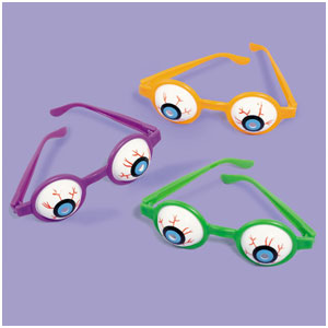 Halloween Eyeball Glasses- 6ct