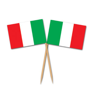 Italian Flag Picks- 50ct