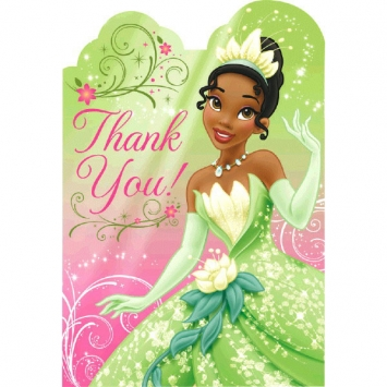 Disney Tiana Thank You Cards
