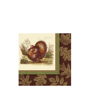Thanksgiving Sophistication Beverage Napkins- 16ct