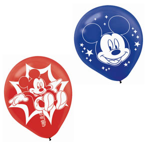 Mickey Printed Latex Balloons- 6ct