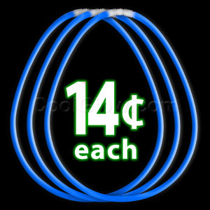 22 Inch Glow Necklaces - Blue