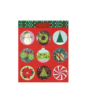 Holiday Buzz Gift Bag - 12.5 Inches