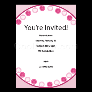 Heart Border - Custom Invitations