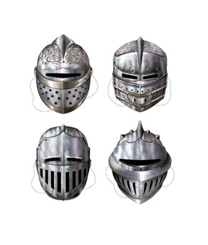 Knights Masks - 4ct